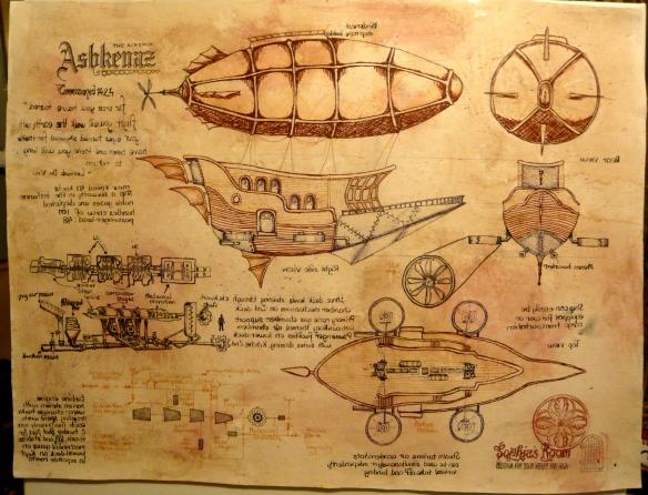 Steampunk Airship in da Vinci style