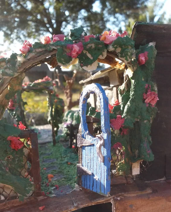Side entrance into rose garden